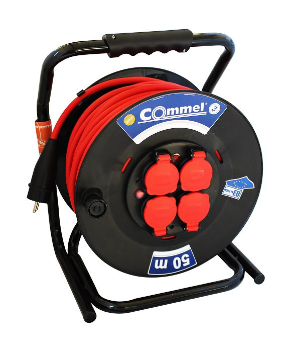 Pagarinātājs uz spoles 50m 3x2,5 PVC 16A 3500W IP44